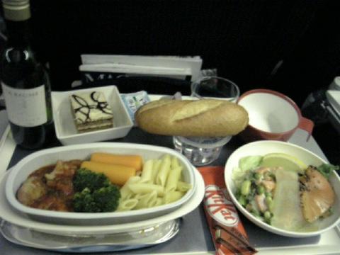 空港と機内食