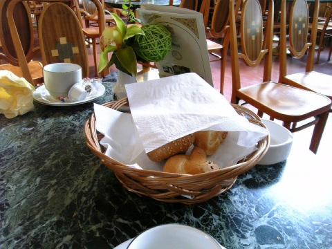市民会館で朝食を♪