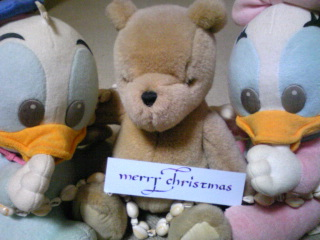 ドナとレイジーとプーさんとクリスマス♪